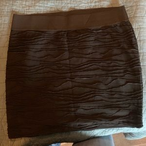 Maurice's Black Textured Skirt